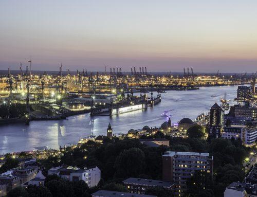 Der Hamburger Hafen von oben