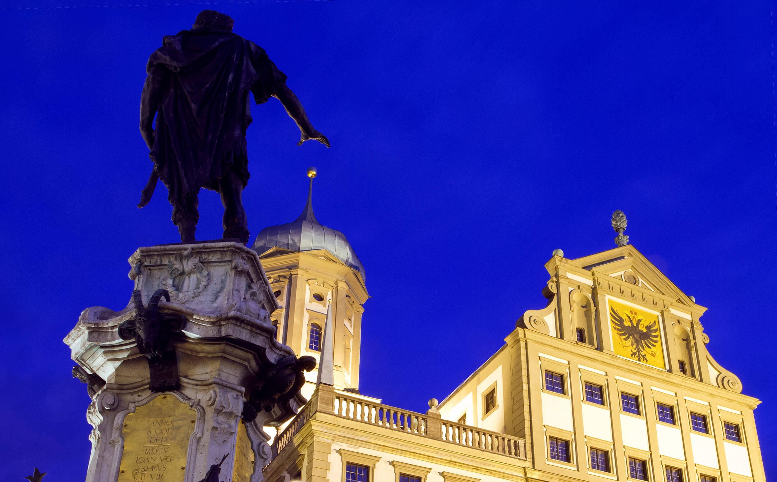 Augustus greift nach dem Augsburger Rathaus