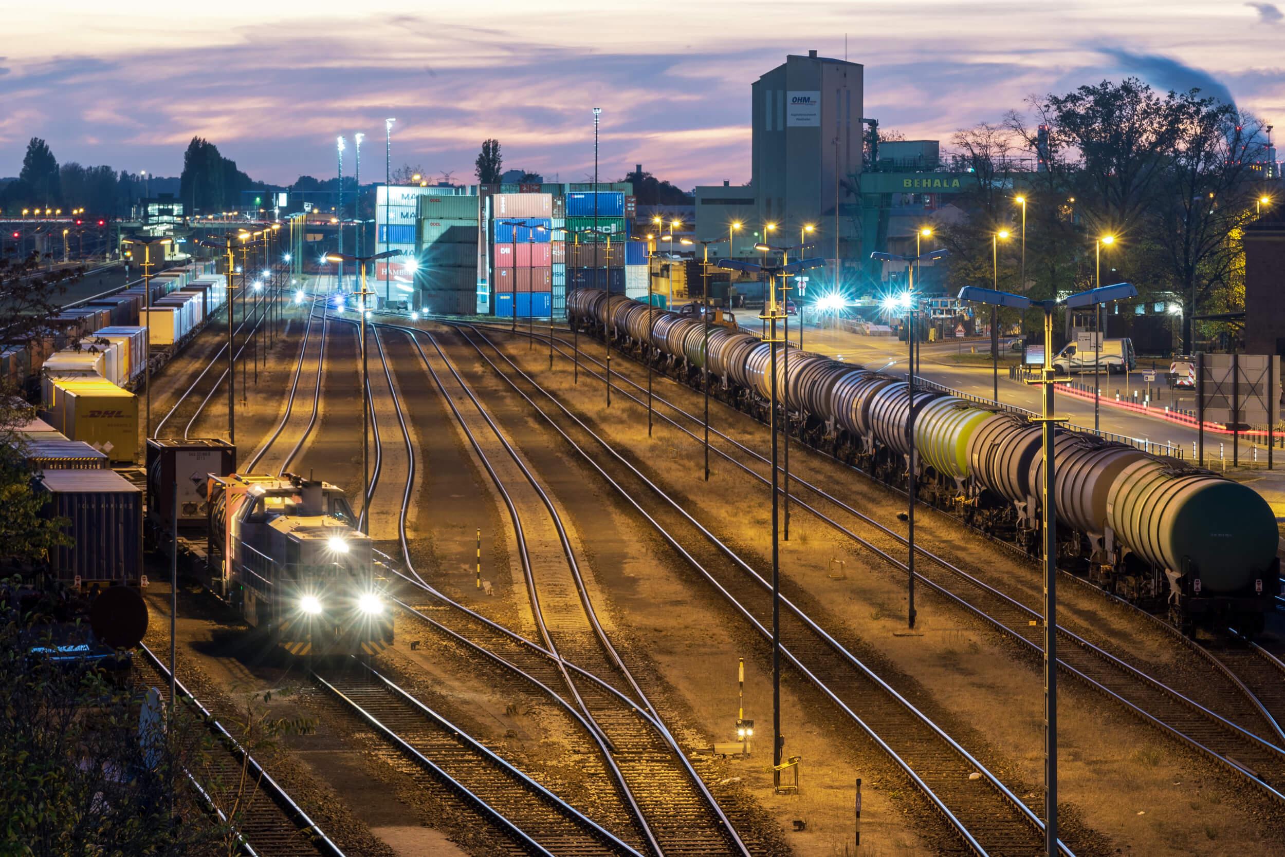 Güterbahnhof am Westhafen